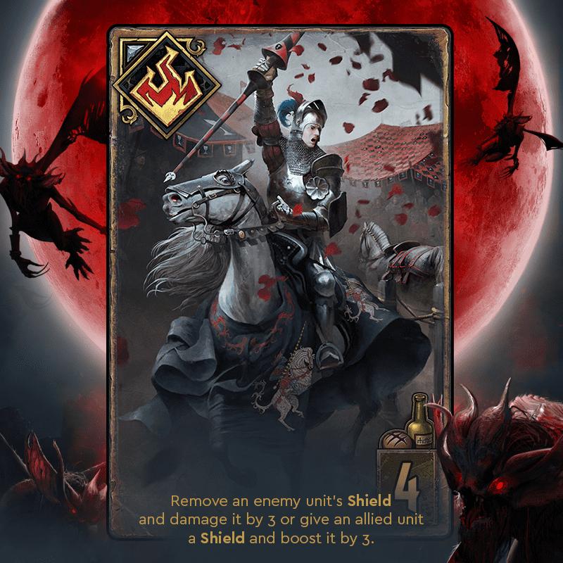 turniej rycerski krwawa klątwa karty