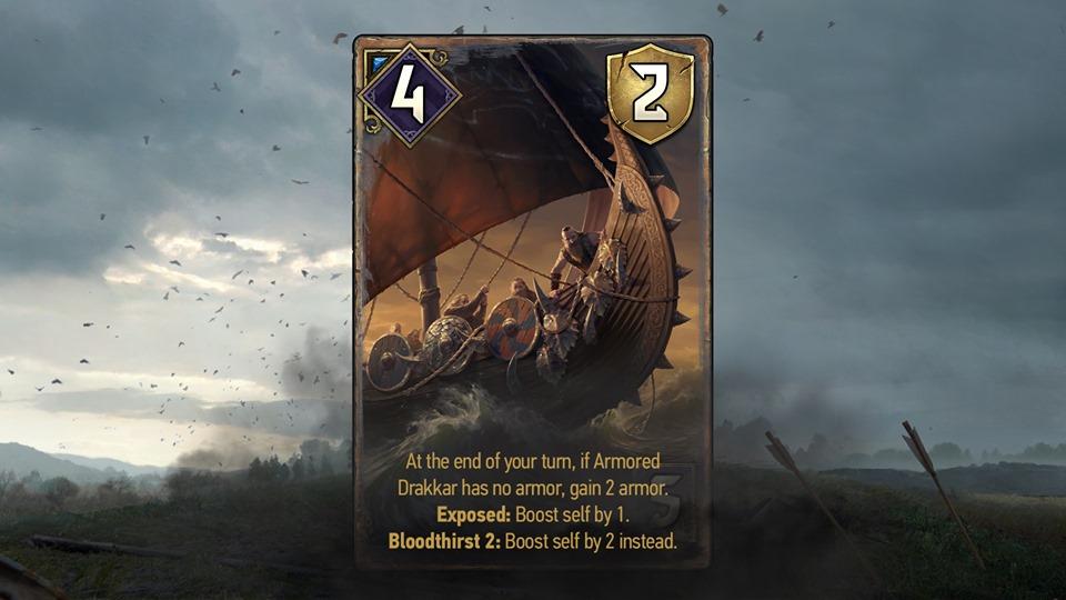 opancerzony drakkar karty
