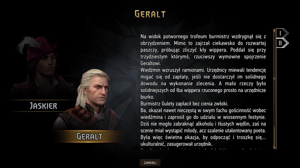 drugi etap podróży historia geralt
